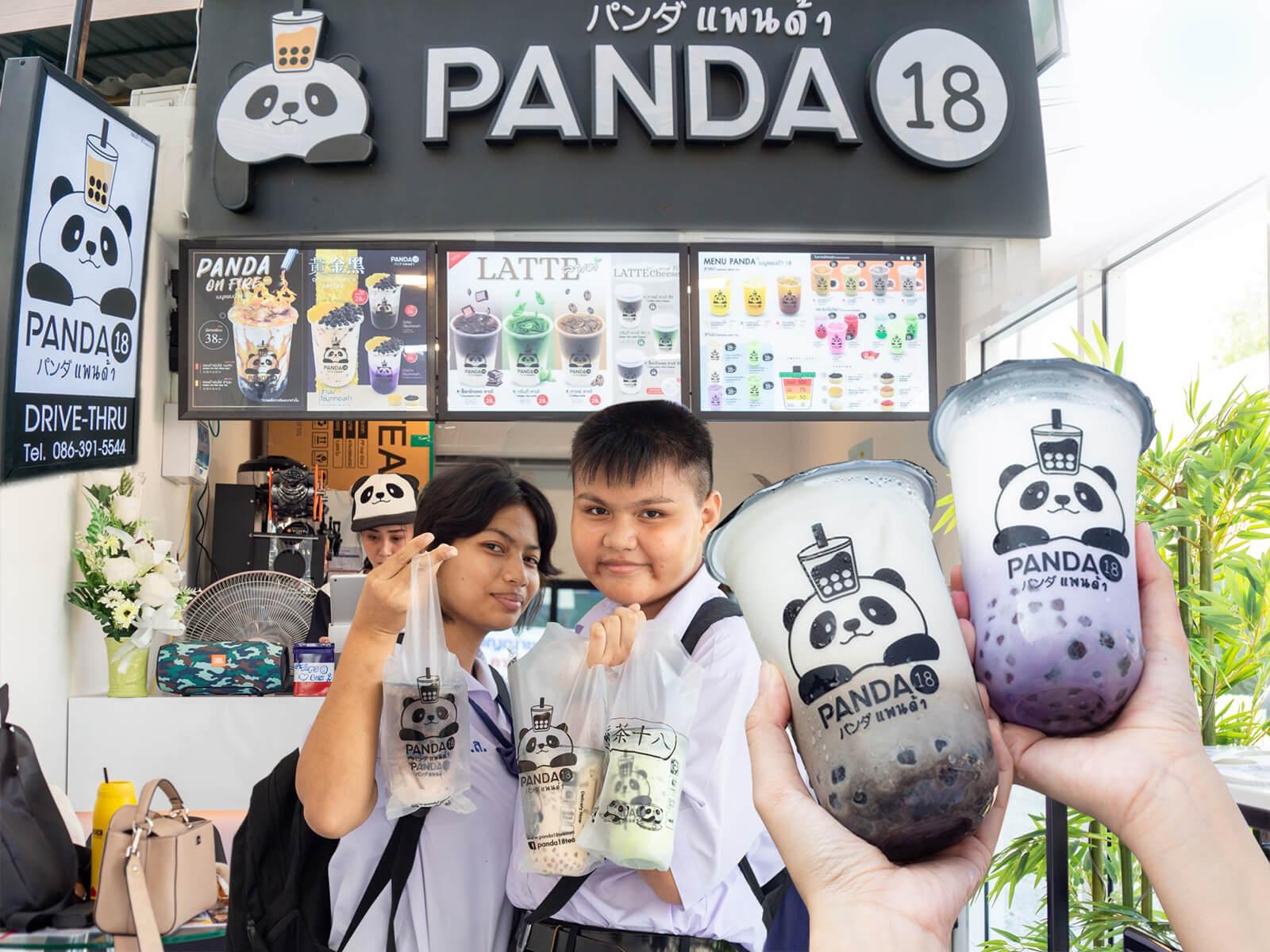 เปิดร้าน แพนด้า18 ชานมไข่มุก สาขาร่มเกล้าแล้ว!!